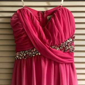 Formal pink ombré dress